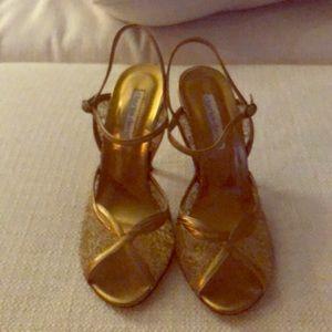 Charles David Sz 8 Bronze strapping Heels